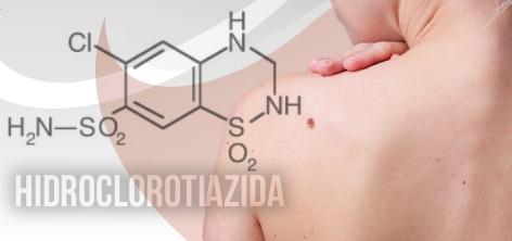 A relação entre Hidroclorotiazida e o câncer de pele.